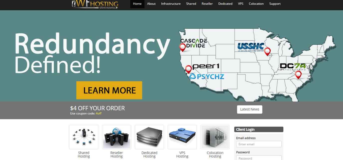 iWFHosting:高配服务器,洛杉矶/俄勒冈,4*E5-4650v2(40核),384GB内存,6x4TB或6x500GB SSD硬盘,20G防御,399美元/月,最低4H16G,57美元/月-辣椒资源网-专注互联网建站资源分享