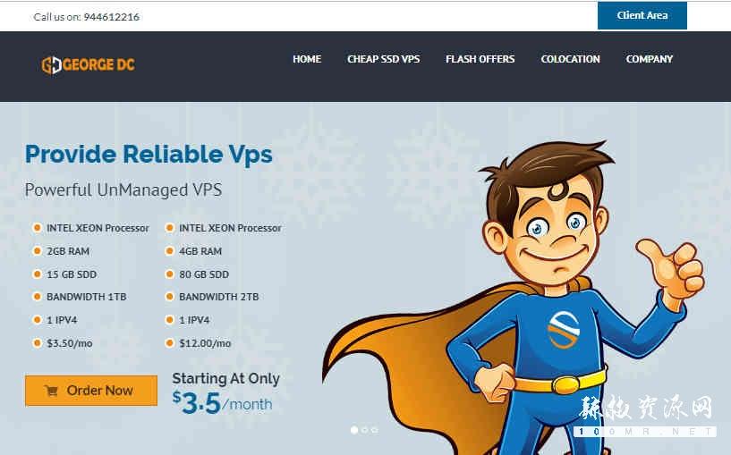 georgedatacenter:美国洛杉矶VPS,1G内存/25gNVMe/1T流量,VMware Hypervisor,25美元/年